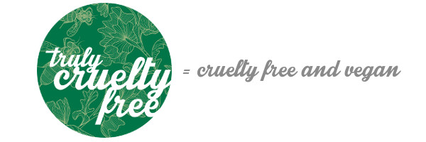 Truly Cruelty Free = cruelty free and vegan.